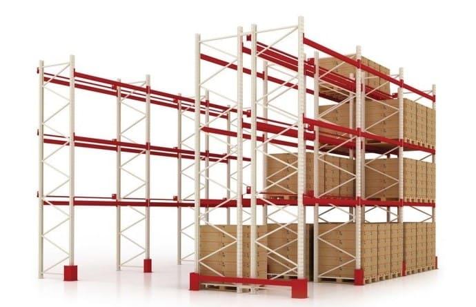 фронтальные паллетные стеллажи на складе